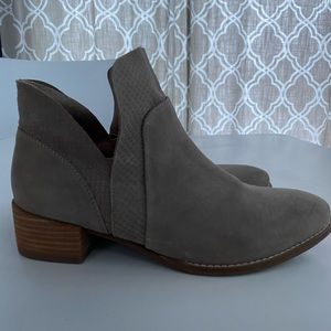 Seychelles ankle booties in sand color